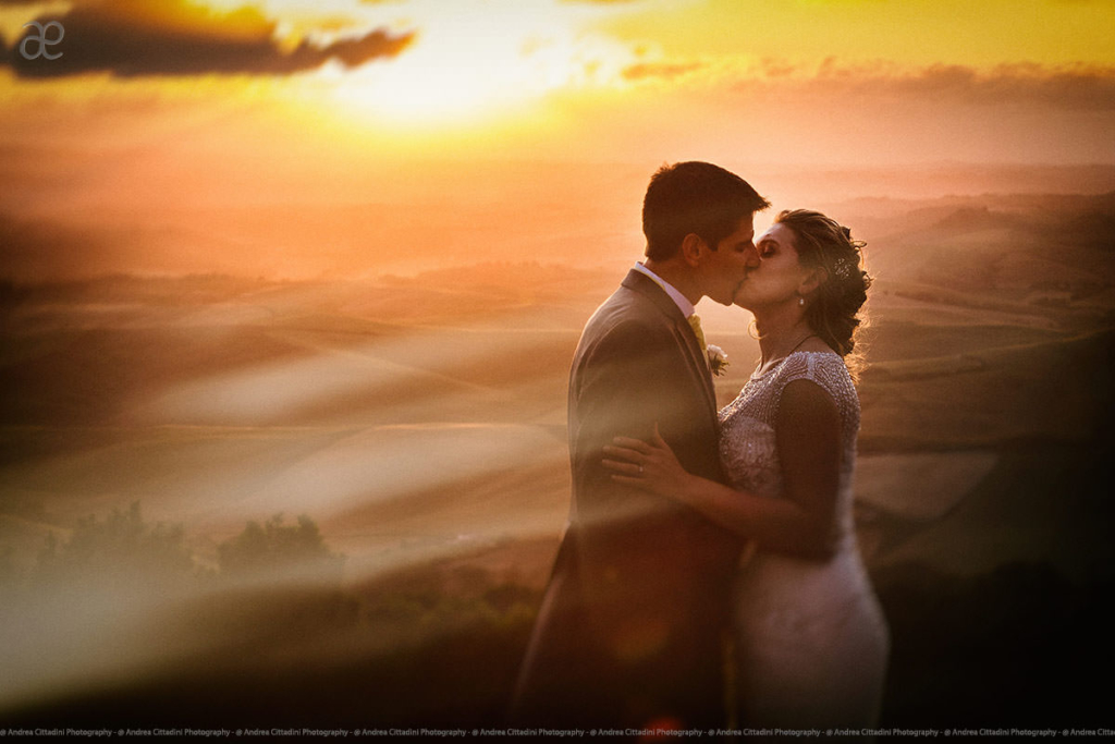Sunset wedding photos ideas