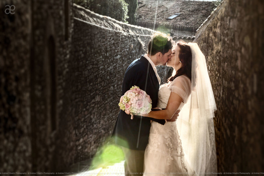 Under the rain wedding