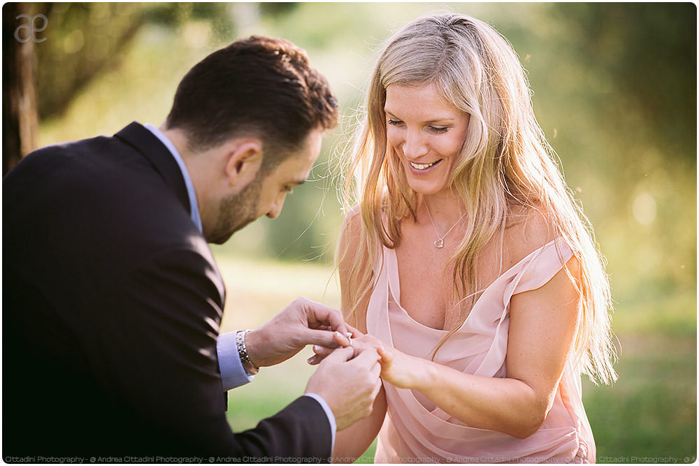 Surprise proposal in Umbria