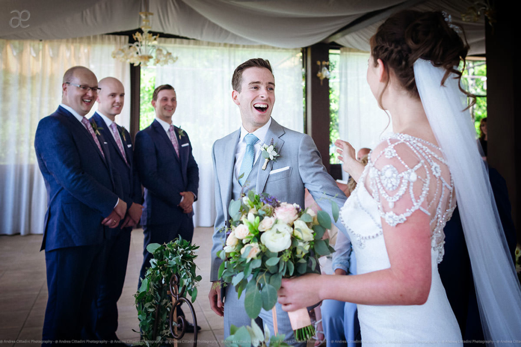 Emotional impact first look wedding