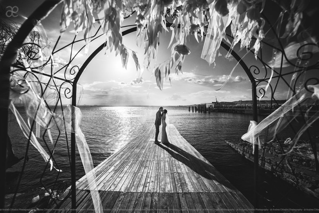 Trasimeno lake infrared wedding photography