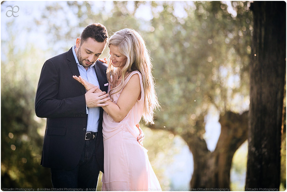 Luxury engagement in Umbria