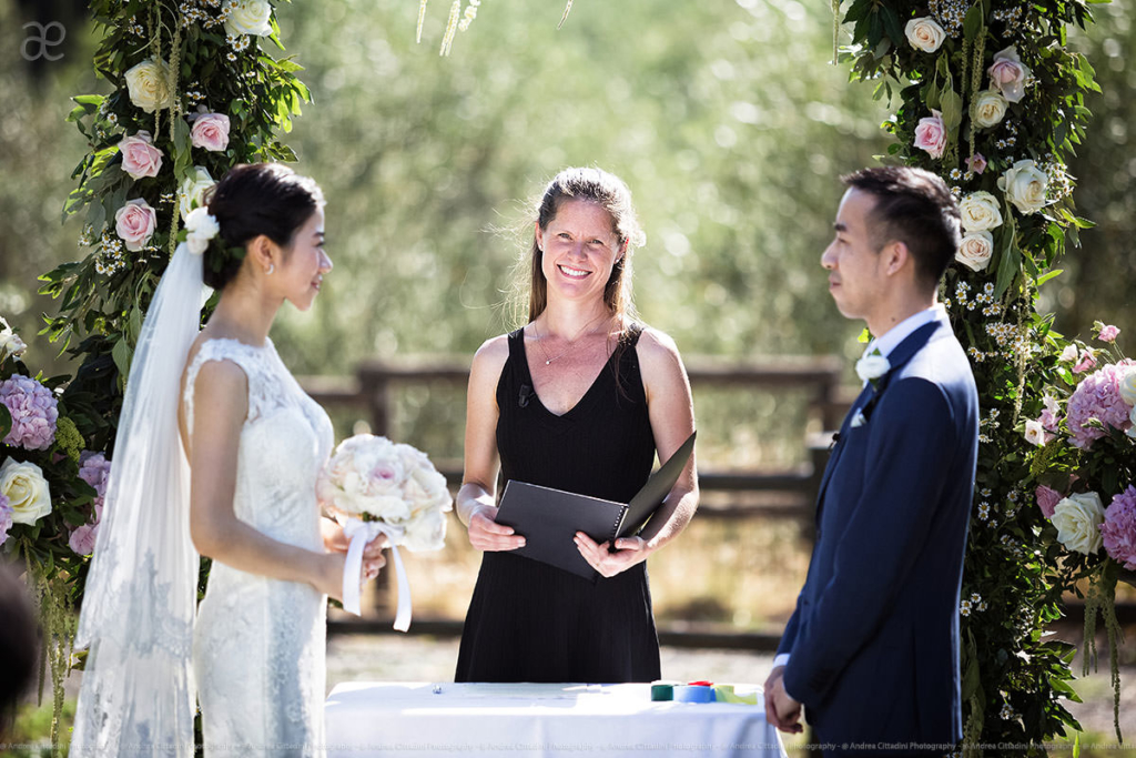 Borgo Scopeto outdoor wedding Ceremony