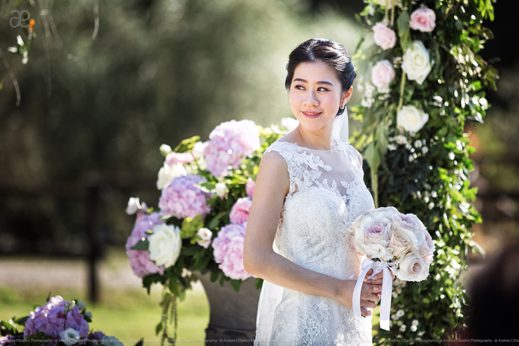 Hong Kong outdoor wedding in Tuscany