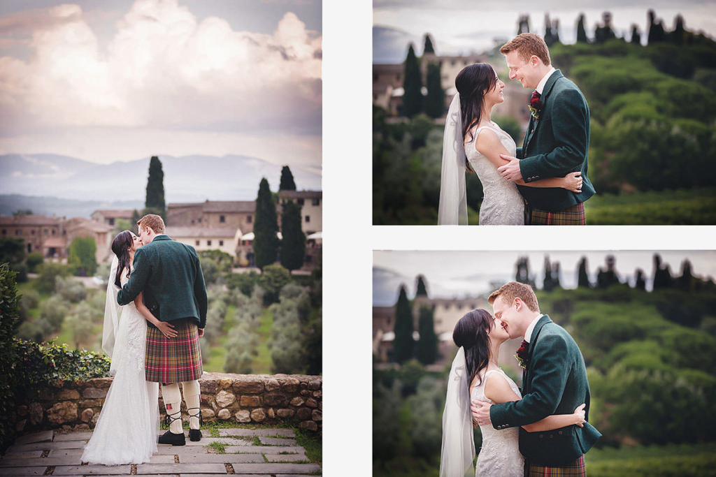 Outdoor tuscany wedding photos