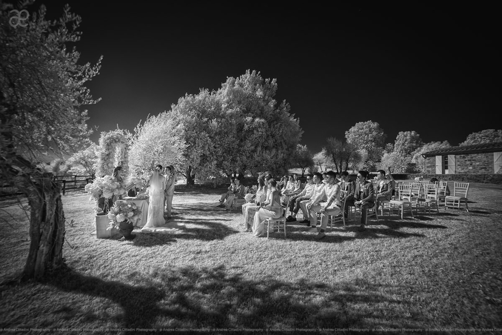 Infrared wedding photography in Tuscany
