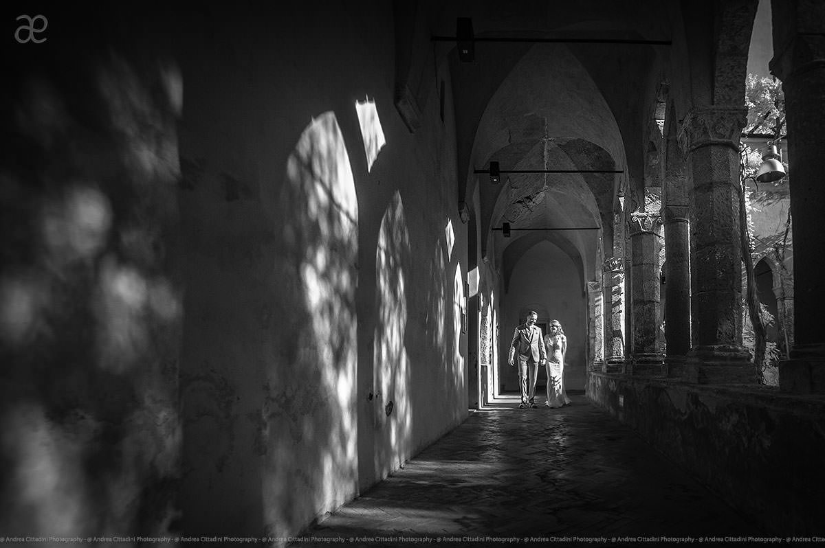 St Francis Cloisters infrared wedding photography