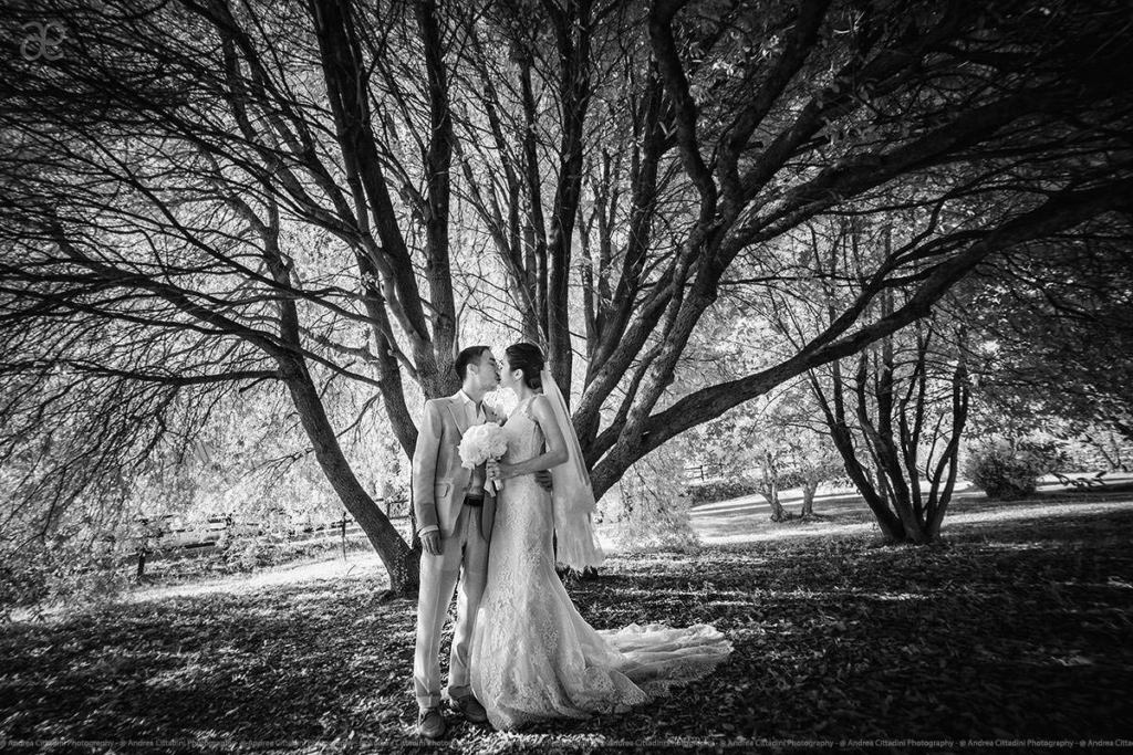 Infrared wedding photos in Tuscany