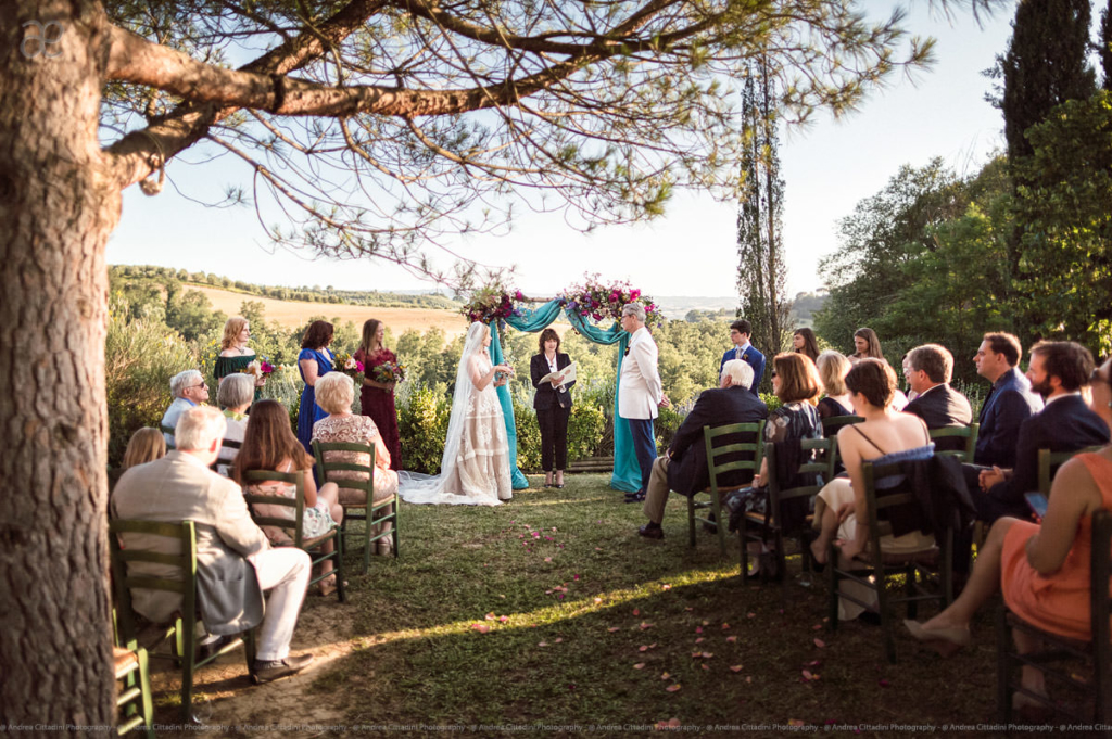 outdoor wedding at il grande prato tuscany