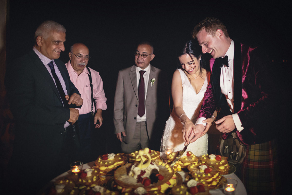 The cutting of the cake