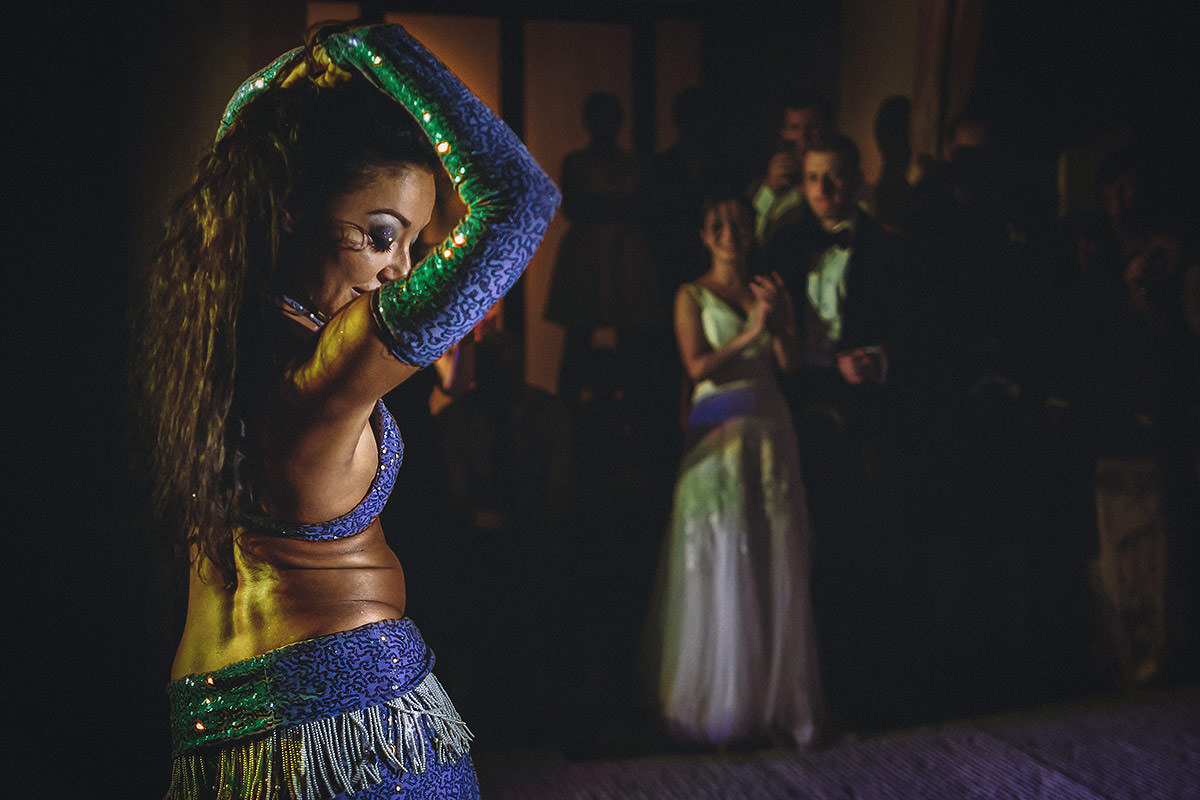 Belly dance at wedding party