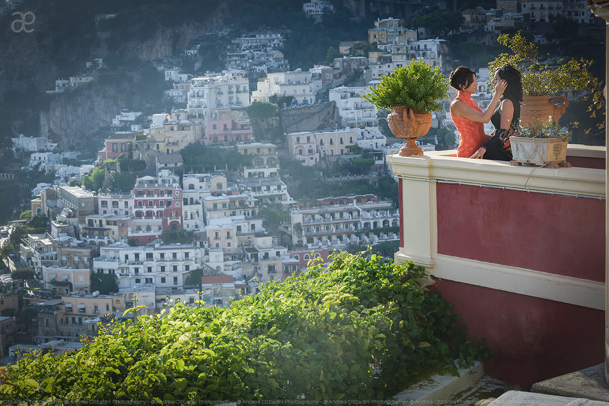 same sex wedding in Positano