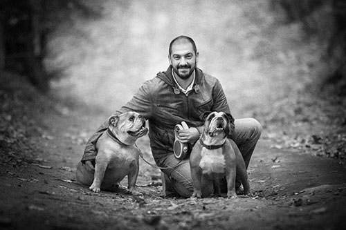 Andrea Cittadini with Dogs