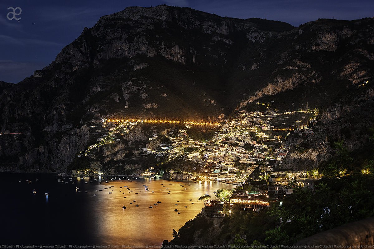 Positano by night - Amalfi Coast