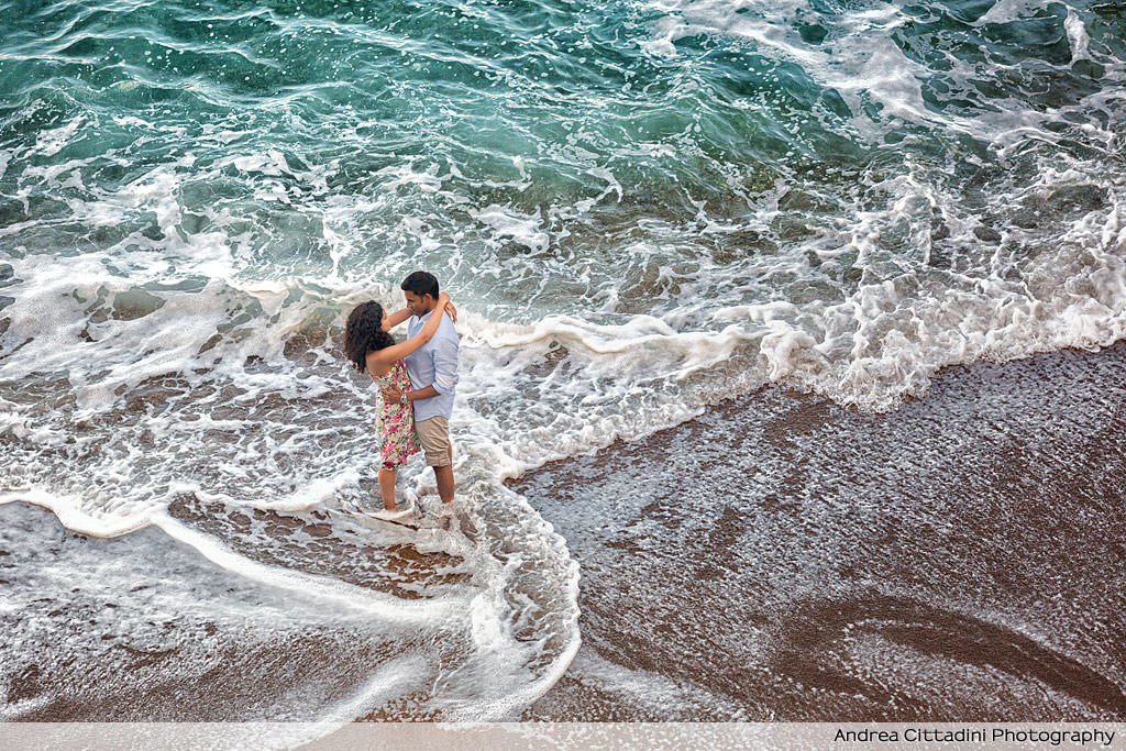 Engagement photographer in Positano
