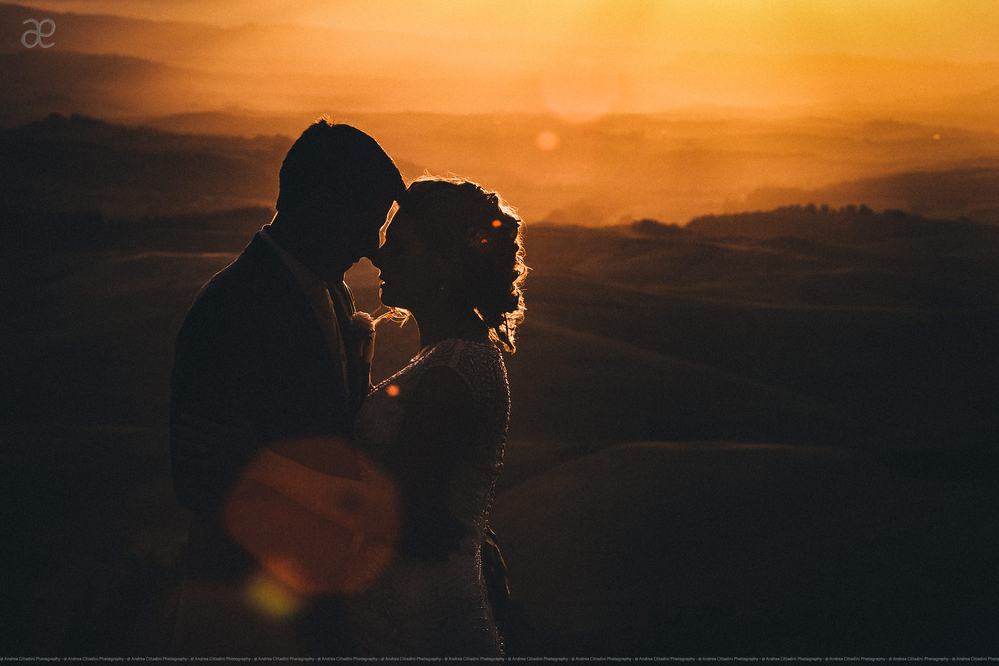 Sunset portrait at villa Ulignano Volterra Tuscany
