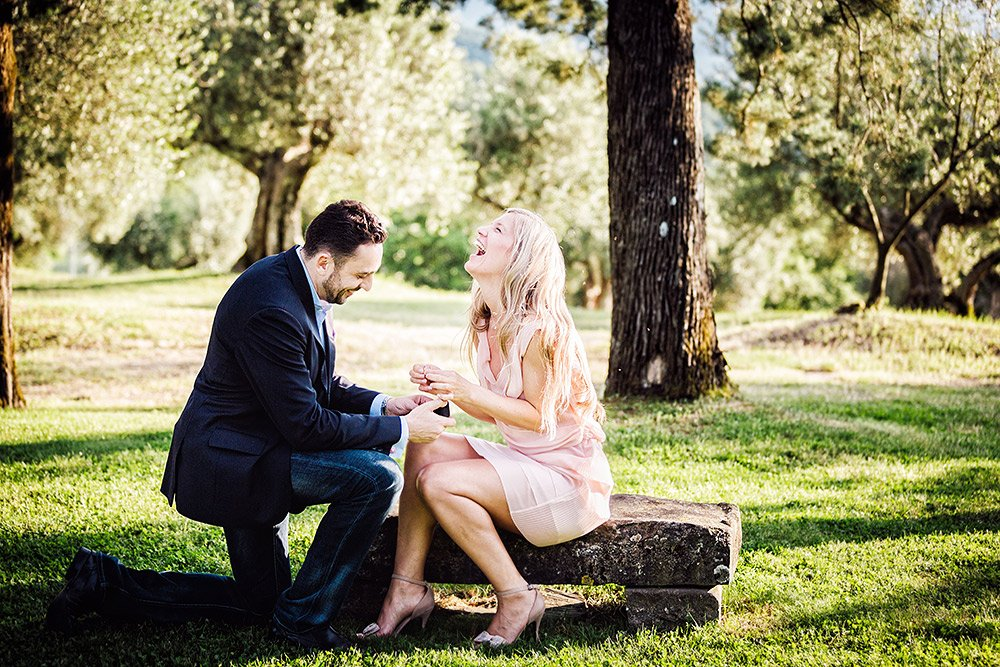Surprise proposal at Borgo Bastia Creti